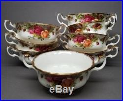 10 Royal Albert OLD COUNTRY ROSES Cream Soup Bowls Bone China OLD BACKSTAMP