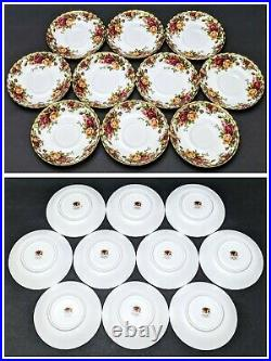 10 Sets Royal Albert Old Country Roses Tea Cups & Saucers withScalloped Gold Trim
