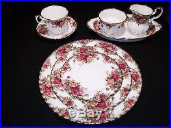 12 Piece Set, Royal Albert Old Country Roses Bone China England RARE