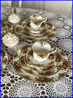 1962 Royal Albert Old Country Roses 5 Pieces- 4 Place Settings -Total 20 Pc
