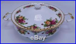 1962 Vintage Royal Albert Old Country Roses Vegetable Tureen -MADE IN England