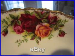 19 Piece ROYAL ALBERT Old Country Roses Dessert Set-Red & Yellow Roses/Fluted