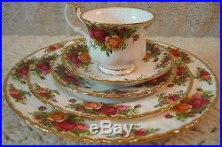 20 Pcs Royal Albert Old Country Roses 5 Pc Place Setting Service For 4 In Box R2