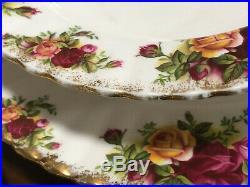 22 tlg. Essservice Royal Albert Old Country Roses essteller suppenteller teller