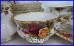 22tlg Kaffeeservice Royal Albert Old Country Roses 6 Pers. Kuchen Platte Sahne