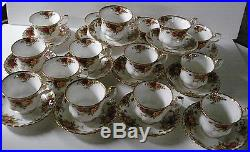 29 PCS Vintage Royal Albert China Old Country Roses Cups & Saucers VTG Stamp