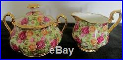 2 Pcs Royal Albert England Old Country Roses Chintz Col Sugar & Creamer Set
