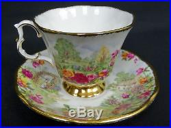 2 Royal Albert Celebration Old Country Roses Garden Cups, Saucers, Plates, Vgc