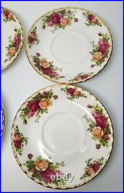 4 x Royal Albert Old Country Roses LARGE BREAKFAST CUP & SAUCER Sets