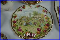 52 Pcs Royal Albert Old Country Roses Service For 8 + Extras