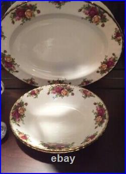 58 Pcs Royal Albert OLD COUNTRY ROSES Bone China Dinnerware
