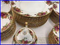 59 piece Royal Albert Old Country Roses
