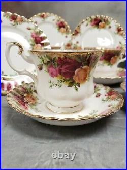 (5) TRIO SETS Royal Albert Old Country Roses Cup, Saucer & Side Plate GREAT BUY