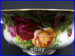 6 Old Country Roses Soup Coupes & Saucers, 1973-2002, England, Royal Albert