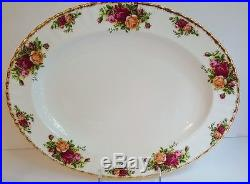 6 Piece Hostess Serving Piece Set ROYAL ALBERT England OLD COUNTRY ROSES Great