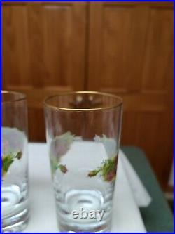 (6)Royal Albert Old Country Roses Highball/ Tumbler. 8oz 5 5/8. New