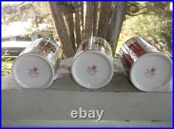 6 Royal Albert SEASONS OF COLOR Old County Roses Mugs Cups 12 oz 2006