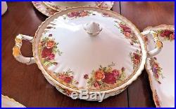 76 Piece Royal Albert Old Country Roses Bone China Set