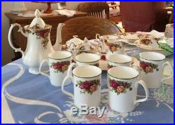 82 Piece Set Of Old Country Roses By Royal Albert English Bone China, Mint