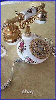 ASTRAL Telecom, ROYAL ALBERT Telephone Old Country Roses house phone