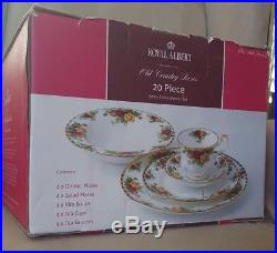 BEAUTIFUL NEW Royal Albert Old Country Roses 20 Piece Set Service for 4 HOLIDAYS
