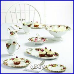 Beautiful 5 PCs Floral Designed Old Country Roses Elegant Decor Dinnerware Set