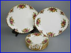 Complete Royal Albert Old Country Roses Tea Set Service. Teapot Cups Plates etc