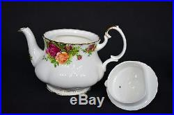 EUC! Vintage Royal Albert Old Country Roses Tea Set. Service For Two. Beautiful
