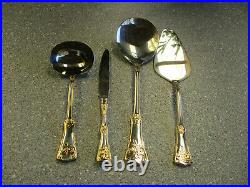 EXTREMELY RARE ROYAL ALBERT Old Country Roses 4 Piece Serving Set