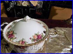 Edle große Suppenterrine 3,5 Liter Royal Albert England Old Country Roses