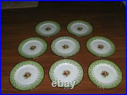Eight (8) Accent Salad Plates Royal Albert Old Country Rose NEW WITH STICKER