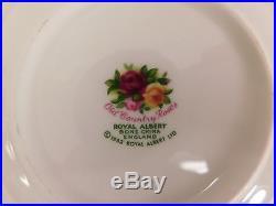England Royal Albert Old Country Roses Tea Pot, Creamer, Sugar 6 Tea Cup/saucer