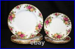 Lot of 15 Pc. Vintage Royal Albert'Old Country Roses' Tea Pot, Cups, Plates
