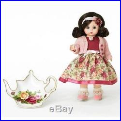 Madame Alexander TEA TIME with OLD COUNTRY ROSES ROYAL ALBERT 8 Doll NRFB