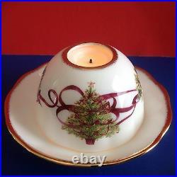 NEW 4 Christmas Tree Tealights Royal Albert Old Country Roses Candle Holder NIB