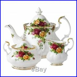 NEW Old Country Roses Teapot/Sugar/Creamer Set