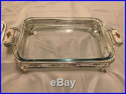 NEW RARE Royal Doulton Old Country Roses Silver/Gold Collect Serving Dish Baker