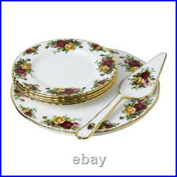 NEW Royal Albert Old Country Roses Cake Set 6pce