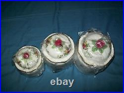 NEW Royal Albert Old Country Roses Canisters Set of 3 OCRFUN21210