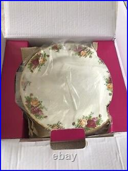 New 12 Pc Royal Albert Old Country Roses Dinnerware-service For 4-plates-teacups