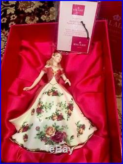 Nib Royal Albert Old Country Roses 2008 Figure Of The Year Coa Le Large Size 9