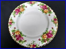 OLD COUNTRY ROSES 20 PIECE DINNER / TEA SET, 1st QUALITY, VGC, ROYAL ALBERT