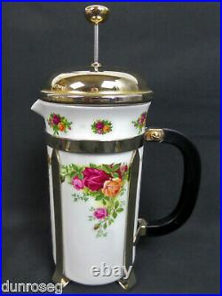 OLD COUNTRY ROSES CAFETIERE, 1st QUALITY, VGC, 1993-02, ENGLAND, ROYAL ALBERT