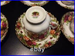 Old Country Rose by Royal Albert China 6x cup and saucer set Original