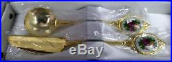 Old Country Roses 6 Gold Plated Tea Spoons, Knife, Jam Spoon, Vgc, Royal Albert