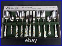 Old Country Roses, Monogram, 24 Piece Cutlery Set, Good Condition, Royal Albert