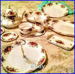 Old Country Roses Royal Albert Bone China Serving (11) Pieces