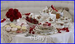 Old Country Roses Royal Albert Service for 4 ENGLAND Bone China 22k gold NOS