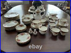 Old Country Roses Royal Albert china dinnerware 1962 stamp numerous pieces