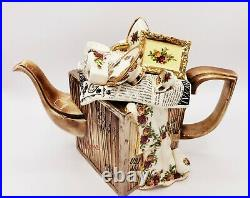 Paul Cardew Large Royal Albert MOVING DAY Teapot Old Country Roses 12 x 10